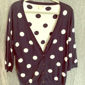 Navy & Cream Polka Dot Banana Republic sweater